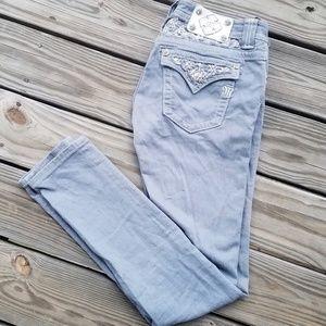 Miss Me Slate Grey Skinny Jeans